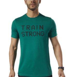 GS Train Strong Tee CLOGRN